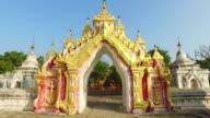 Kuthodaw Pagoda gates, Myanmar video