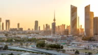 Kuwait cityscape during the sunset timelapse video