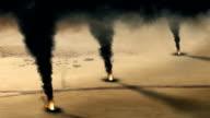 Kuwaiti oil well fire  - loop video