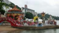 Hong Kong, China - October 11, 2015 : Kwum Yam Taoist shrine at the southeastern end of Repulse Bay.,hong kong-Tin Hau Temple Repulse Bay video