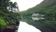 Kylemore Abbey In Connemara District In Ireland video