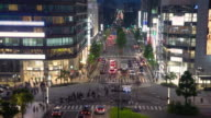 T/L Kyoto city crossing at night video