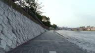 Kyoto Japan Riverside Bike Ride Pathway video