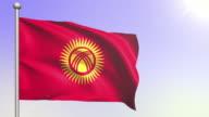 4K Kyrgyzstan Flag (Loopable) video