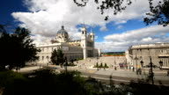 La Almudena Cathedral in Madrid, Panning video