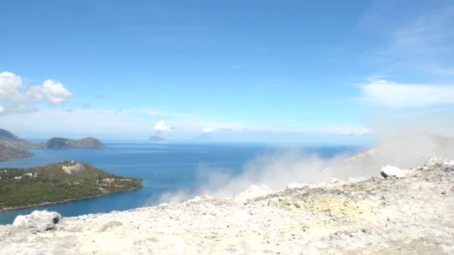 La Fossa Vulcano on Aeolian Island video