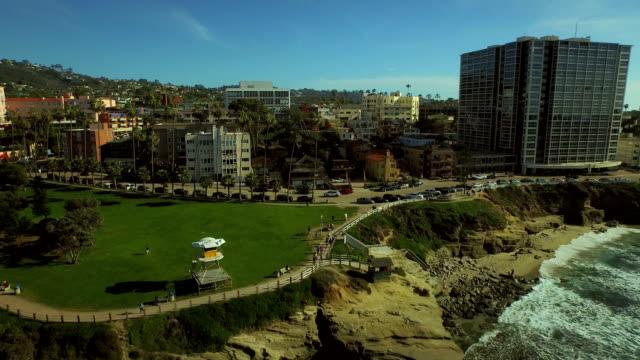La Jolla Aerial Over Beach Town video