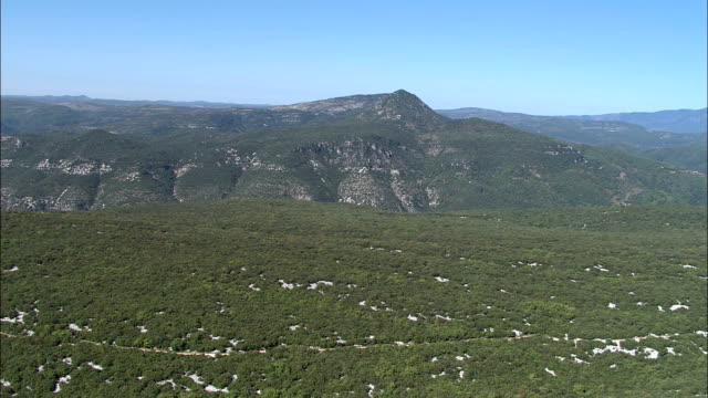 La Vis River And Valley  - Aerial View - Languedoc-Roussillon, Hérault, France video