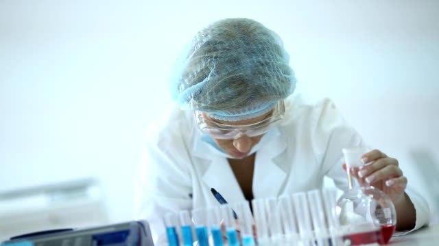 Lab researcher at work. video
