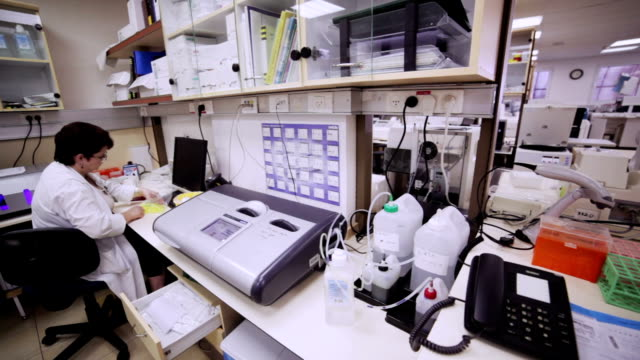 Laboratory assistant at work video