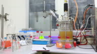 Laboratory glass ware and instrument. video