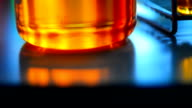 laboratory glassware with color liquid video