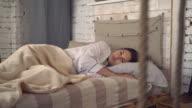 Lady enjoy dream in modern flat video