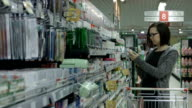 Lady in a supermarket video