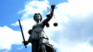 T/L Lady Justice Against Cloudy Sky video