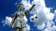 Lady Justice statue in Frankfurt video