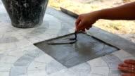 lady repair tile video