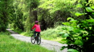 Lady with bicycle video