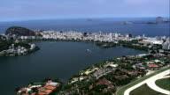 Lagoa Rodrigo De Freitas  - Aerial View - Rio de Janeiro, Brazil video