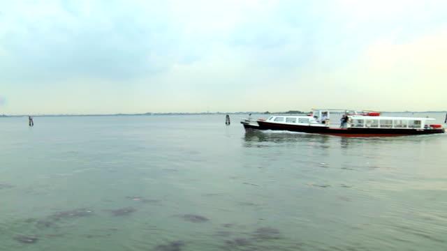lagoon and boat sailing video