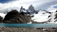 Laguna de Los Tres with mount Fitz Roy, Argentina video