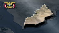 Lahij with Coat of arms animation map video