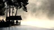 HD: lake and mountain at Pang Ung Thailand Sunrise video