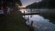 Lake and mountain at Pang Ung Thailand,Dolly shot video