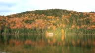 Lake and Mountain in Fall Season video