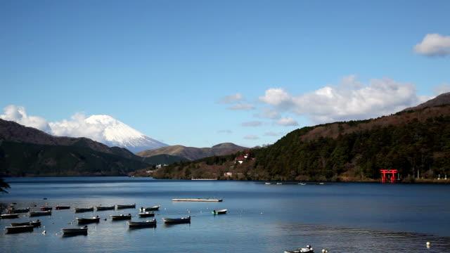 Lake ashi and Mt Fuji video