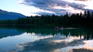 Lake at Dusk and Canoe on Water video