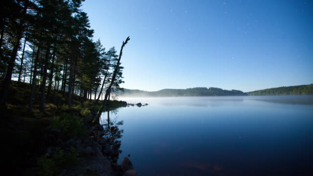 TIME LAPSE: Lake at night video