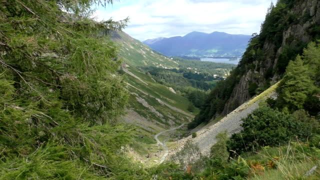 Lake District mountain landscape video
