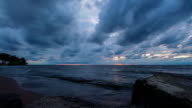 Lake Erie Sunset - Dramatic Clouds - Time Lapse video
