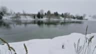 Lake freezing over video