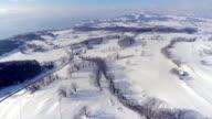 4K Lake Geneva area - aerial view in Winter video