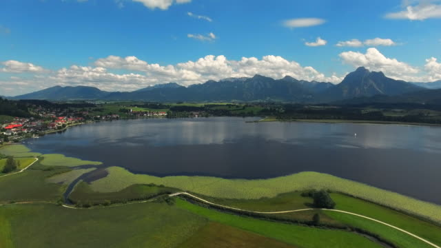 Lake Hopfensee And Hopfen Village In Bavarian Allgau video