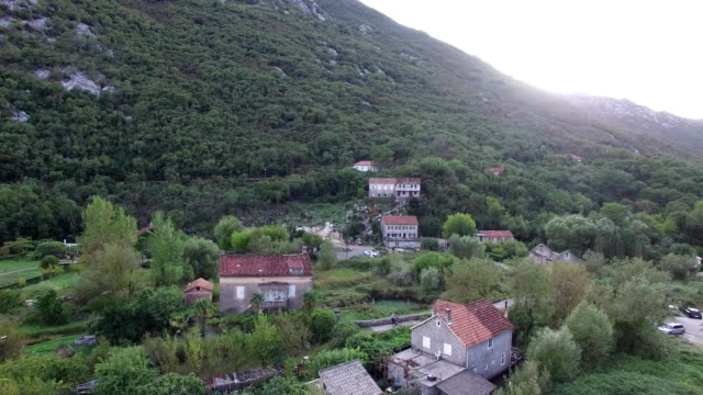 Lake house. In Montenegro, in the village video