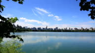 Lake In Central Park At Summertime, New York City video