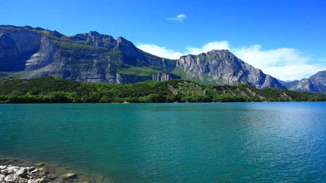 Lake in the Alps, Panning left to right, HD Video video