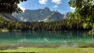 WS Lake Lago di Fusine With Mt Mangart video