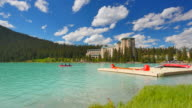 Lake Louise, Canoes and Chateau Lake Louise Hotel video