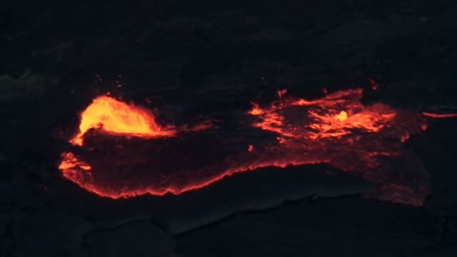 Lake of lava in Ethiopia video