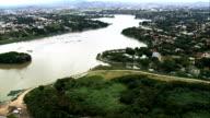 Lake Pampulha  - Aerial View - Minas Gerais, Belo Horizonte, Brazil video
