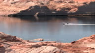 Lake Powell zoom in boat video