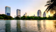 Lake view of Lumpini Park in the Thai capital's city centre  in Bangkok, Thailand. video