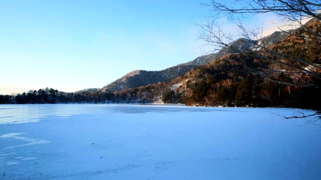 Lake Yuno (Yunoko) in winter video