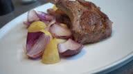 Lamb rack steak video