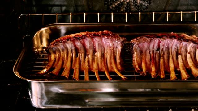 Lamb Racks In Oven Dolly video