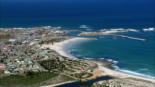 Lamberts Bay  - Aerial View - Western Cape,  South Africa video